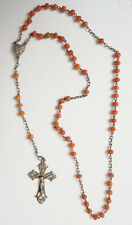 Chapelet ancien corail et argent rosaire rosary coral silver cross rosario heart