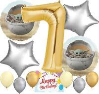 Baby Yoda Star Wars The Mandalorian Party Balloon Bundle for 7th  Birthday