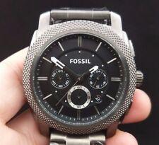 New Old Stock FOSSIL Machine FS4662 Chronograph SS Date Quartz Men Watch