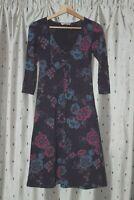 White Stuff ~ Floral Stretch Cotton Dress ~ Size 8