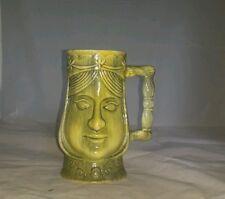ART MARK MUG COFFEE TEA CUP GREEN FLOWERS FACE WOMEN Tiki