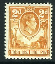 NORTHERN RHODESIA-1938-52 2d Yellow-Brown Sg 31 LIGHTLY  MOUNTED MINT V13502