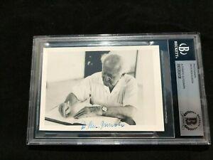 David Ben Gurion Signed Autographed Photo BAS BECKETT