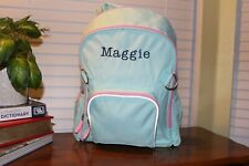 "Pottery Barn Girls Large Green Backpack FREE Pencil Case NWOT Free Ship ""Maggie"""