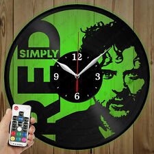 LED Vinyl Clock Simply Red LED Wall Art Decor Clock Original Gift 4867