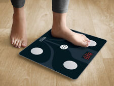 WAVE MEDICAL Smart Bluetooth Body Fat Bathroom Scale w/13 Essential Measurements