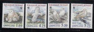 GREENLAND Snowy Owl WWF MNH set