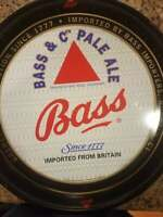 """Bass & Co's Pale Ale Imported From Britian Since 1777 13"""" O.D. Beer Serving Tray"""