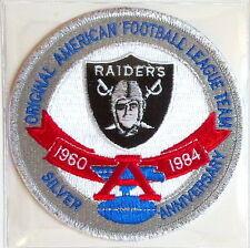 OAKLAND RAIDERS 25th SILVER ANNIVERSARY NFL TEAM PATCH Willabee & Ward WORN 1984