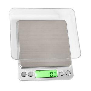 AUGUSTA OnBalance NV 3000 Karatwaage Digitale Waage Tischwaage + 2 Schalen 2kg