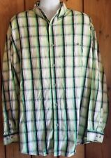 Lot of 2 Wrangler 20X Long Sleeve Plaid Shirts   Cowboy Rodeo Country