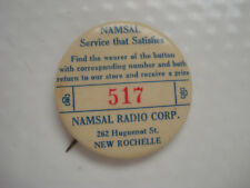 NAMSAL RADIO CORPORATION CELLULOID ~ PRIZE ~ NEW ROCHELLE NY