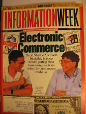 """Information Week 10/31/1994 """"Electronic Commerce Scot Cook. Bill Gates"""""""