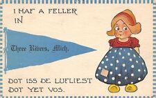 Three Rivers MI Haf De Lufliest Feller Yet Vos 1913 Pennant