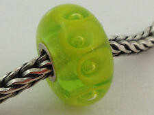 Auténtico Trollbeads Cristal de Murano Retirado Lima Cuenta Charm 61338 ,Nuevo