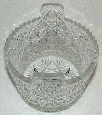 "AMERICAN BRILLIANT ABP CUT GLASS ICE TUB BUCKET ""HARVARD"" PATTERN DAISY & BUTTON"