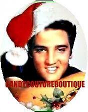 20 water slide nail decals Elvis Presley with Santa hat Trending