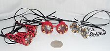 MINI EMBROIDERED LACE GOGGLES,CLEAR LENSES- STEAMPUNK - ALMOST LIMITLESS COLOURS