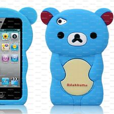 BLUE TEDDY BEAR Silicone Back Case, Suits iPod Touch 4 / 4th Gen / FREE POSTAGE