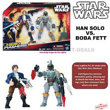 NEW!! Star Wars Hero Mashers Han Solo vs Boba Fett Battle Pack Figures NEW