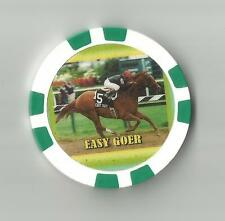 **EASY GOER** #34 OF THE TOP 100 RACE HORSES   HORSE RACING COLLECTOR   CHIP