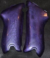 Luger pistol grips smooth shimmer violet plastic