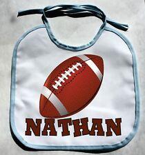 Personalized Monogram Custom FootBall Baby Boy Bib Shower Gift Keepsake bibs