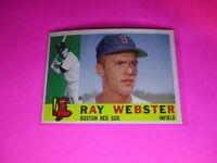 1960 Topps #452 Ray Webster Boston Red Sox NmMt High Grade Sharp!