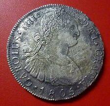 GUATEMALA SILVER COIN 8 Reales, KM53 VF 1805 NGM (Shipwreck)