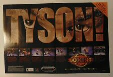 MIKE TYSON BOXING Knockout Two Single Page VIDEO GAME Art Print Advertising