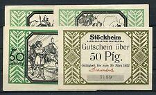 Stöckheim 4 mal Pfennig Notgeld