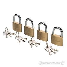 SILVERLINE 675152 Keyed Alike Padlocks 4pk 40mm