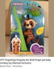 Fingerlings Monkey Kinsley The Sloth 100% Authentic