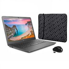 "NEW HP Chromebook 14"" FHD AMD A4 2.5GHz 4GB 32GB eMMC Webcam BT + Sleeve + Mouse"