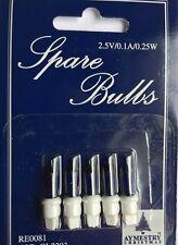 Paquet de 5 Bleu Encre à clipser rechange ampoules pour lumières sapin Noël (