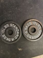 2 X 10LB OLYMPIC WEIGHTS ROGUE FITNESS STANDARD CHANGE PLATES 20LBS TOTAL
