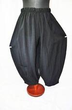 MYO Lagenlook übergrosse Ballonhose Tasche BLACK•washed-Cotton•XXL,XXXL,XXXXL