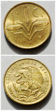 Mexico 1 Centavo 1963-1970 rice 17mm Brass Coin AU-UNC 1pcs
