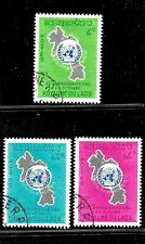 HICK GIRL- BEAUTIFUL USED LAOS STAMP    SC#115-17  1965  ISSUES     E1033