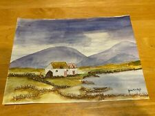 NC Artist – Estate Find – Unframed Original English Countryside Watercolor