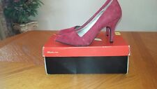 Women's Red Suede Shoes size 6.5 New
