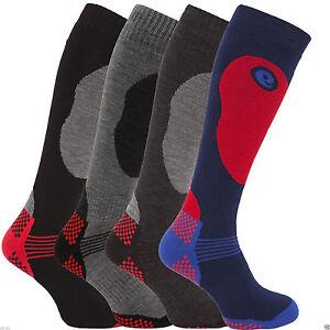 Men1/2/4 Soft Thermal Padded Long Winter Ski Socks Hiking Walking Snowboarding