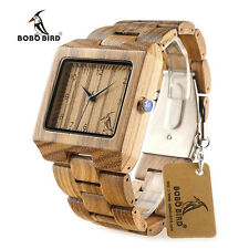 BOBO BIRD L24 Zebra Wooden Watches for men Brand Design Wood Band Quartz Watch