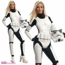 Ladies Stormtrooper Costume Licensed Star Wars Halloween Fancy Dress XS UK 6-8
