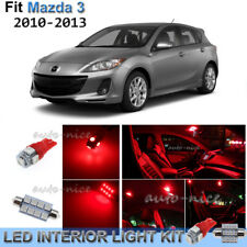 For 2010-2013 Mazda 3 MazdaSpeed 3 Brilliant Red Interior LED Lights Kit 8 Piece