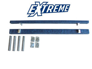 Pair of 1.8m Heavy Duty Blue Carpeted Bunks Assemblies 300mm 50x50 Boat Trailer