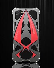 Luphie Luxury Aluminum Armour Case Cover for iPhone 7 Plus RED BLACK