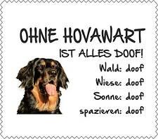 """Displayreinigunstuch Hovawart """"ALLES DOOF"""" Brillenputztuch GT0019"""