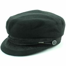 Embroidered Captain's Breton Cap Macahel Corduroy Beatles Fiddler Hat Cadet