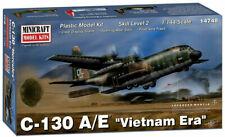 "Minicraft ""Vietnam Era"" C-130 A/E W/ Stand 1/144 Plastic Model Plane Kit 14748"